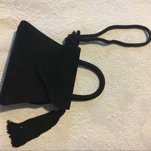 Vintage Bags - Vintage Suede Top Handle Mini Purse